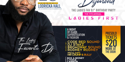 Chris Dymond's Birthday Celebration: Ladies First 2018