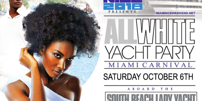 MIAMI NICE 2018 THE ANNUAL MIAMI CARNIVAL ALL WHITE YACHT PARTY - COLUMBUS DAY WEEKEND
